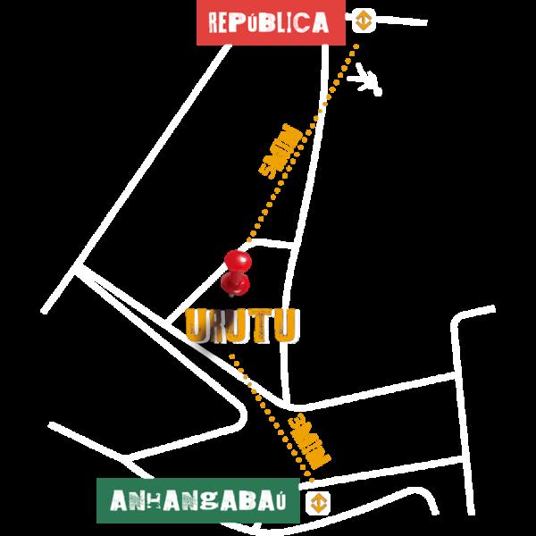O Estúdio Urutu fica no centro de São Paulo (SP), entre as estações República e Anhangabaú