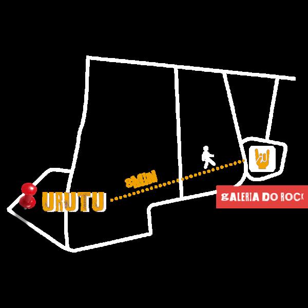 O Estúdio Urutu fica no centro de São Paulo (SP), há 8 minutos da Galeria do Rock